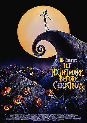 The Nightmare Before Christmas (1993) - A1/A2 POSTER *BUY ANY 2 AND GET 1 FREE*