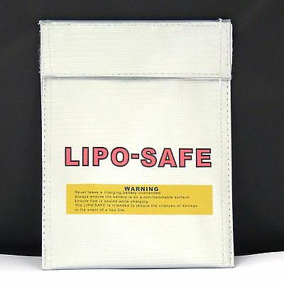 Lithium Polymer Lipo Safe Charge Bag / Pack 18x22cm Lipo Sack in stock from UK