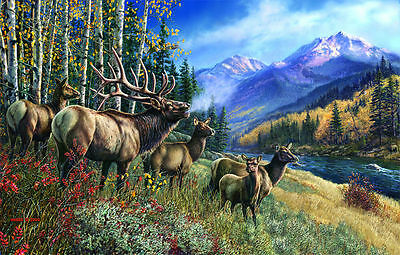 Elk Anthem 1000 Piece Jigsaw Puzzle by SunsOut - New and Sealed
