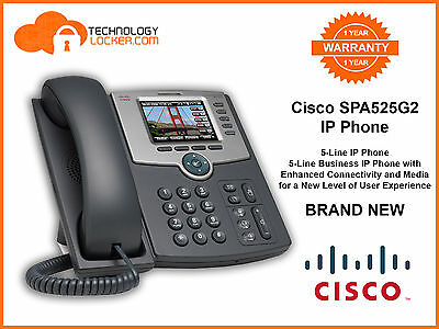 Cisco SPA525G2 IP Phone + Power Supply BRAND NEW 1 Year Warranty Free Delivery
