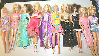 Barbie Doll Lot of 10 with Clothing-B
