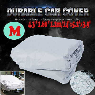 Large Universal Full Car Cover Anti Waterproof Dust Scratch UV Resistant Size M