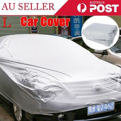 Large Universal Full Car Cover Anti Waterproof Dust Scratch UV Resistant Size L