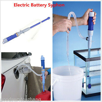 63cm Liquid Transfer Syphon Pump Battery Powered Gasoline Kerosene Petrol Diesel