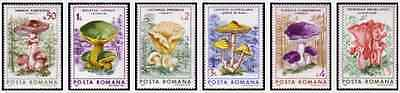 Timbres Champignons Roumanie 3696/3701 ** lot 15420