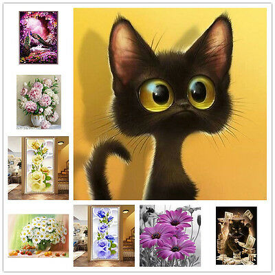 DIY 5D Diamond Painting Flower Embroidery Cross Crafts Stitch Room Home Decor