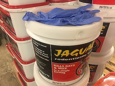 Jaguar PROFESSIONAL  Blox Rat And Mice Bait4 Kg Poison Blocks Free Gloves