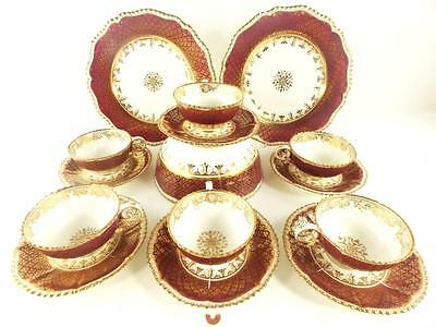 C1825 ANTIQUE REGENCY COALPORT PORCELAIN TEA SET SERVICE 'PEMBROKE' SHAPE e