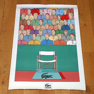 LACOSTE poster manifesto affiche Clothing T Shirt Refere Tennis Sport Crocodile