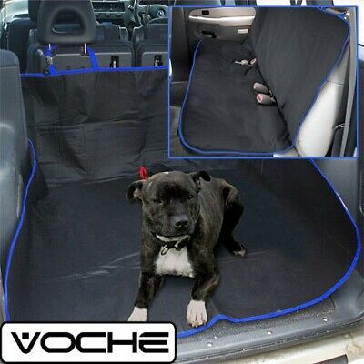 Voche Black / Blue Waterproof Car Rear Back Seat Cover Pet Protector Boot Mat