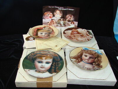 Mildred Seeley The Doll Collection Lot of 4 Collector Plates French German