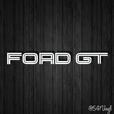 "Ford GT Vinyl 9"" Decal mustang illest jdm classy GT500 shelby funny car sticker"