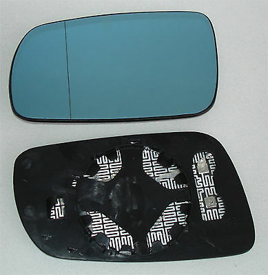 Mirror glass left For Audi A6 (4B/C5) from 1997-1999 heated big Housing