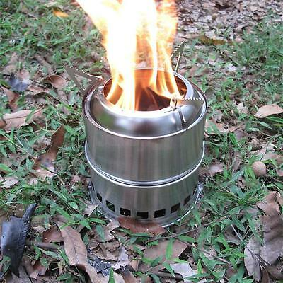 Outdoor Backpacking Camping Picnic Wood Alcohol Burning Cook Stove Survival