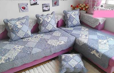 shabby quilted mat rug runner sofa couch window bedroom carpet patchwork vintage