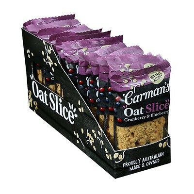 12 x Carman's Cranberry & Blueberry Oat Slice 70g Healthy Snacks Australian-made