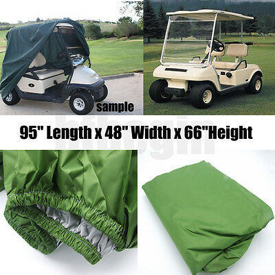 "95"" Green 2 Passenger Golf Cart Protect Cover Waterproof For Yamaha EZ Club Cart"