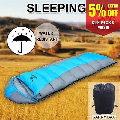 New Brand Outdoor Camping Sleeping Bag Thermal Tent Hiking Winter Single AU Ship
