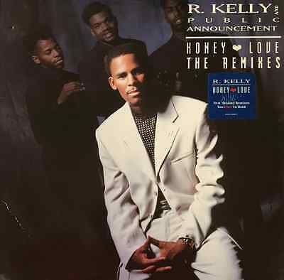 "R. KELLY AND PUBLIC ANNOUNCEMENT - Honey Love (The Remixes) (12"") (VG-/VG-)"