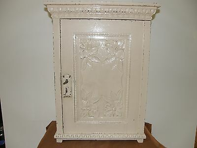 Antique Shabby Chic Oak Wood Wall Cabinet.