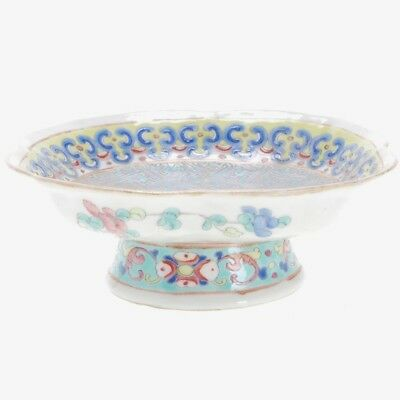 Qing Dynasty Chinese Famille Rose Porcelain Footed Bowl