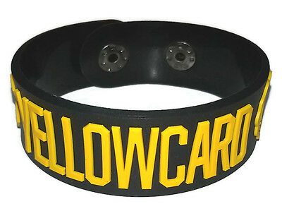 New Yellowcard Rubber Bracelet Wristband Music Men Women Souvenirs Day Wb119