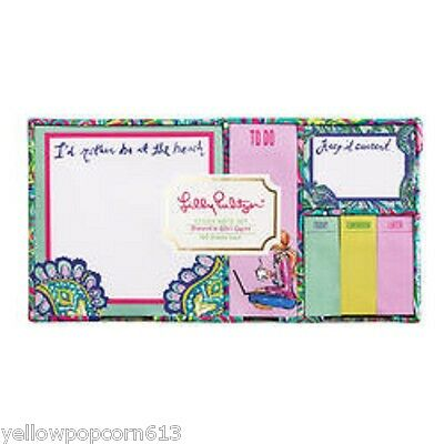 Nip Lilly Pulitzer Sticky Note Set In  Lilly's Lagoon