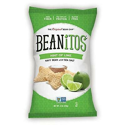 Beanitos 6 Ounce Navy Bean Hint Of Lime & Sea Salt, Case Of 6