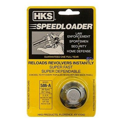 HKS Speed Loader 586-A .38 Special .357 Magnum Ruger S&W 6 Rounds