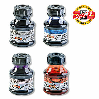 RUBBER STAMP PAD ENDORSING INK REFILL BLACK RED BLUE VIOLET DESK KOH-I-NOOR 50g