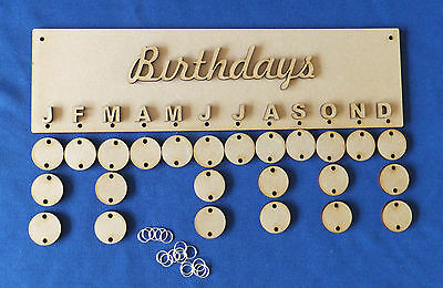 mdf birthday and dates to remember plaques with 24 hanging discs craft blanks