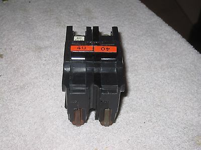 Federal Pacific Electric FPE 2 pole 40 amp Stab-Lok breaker NA240 thick style