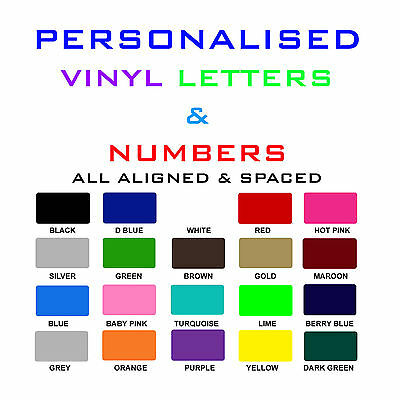Vinyl letters & Numbers Personalised Shop Logo,Shop Sign.Boat SSR. Car Decals