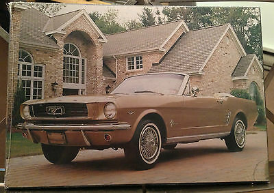 Ford Mustang Car Vintage Picture Laminated On Wood  New Sealed