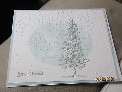 Handmade Christmas Card - Merriest Wishes Tree - Using Stampin' Up products