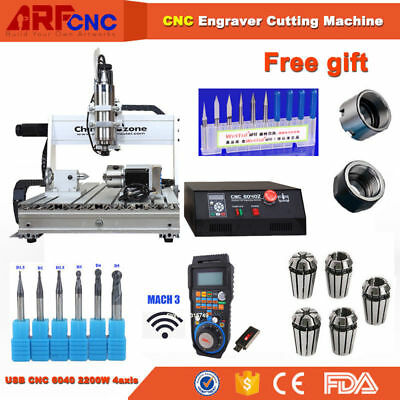 4axis CNC router 6040 2.2KW Spindle Engraving Milling Carving Machine US ship