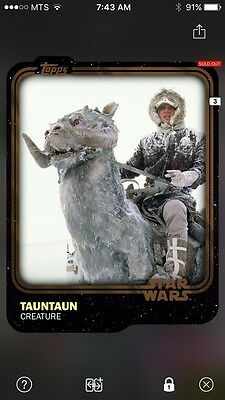 Topps Star Wars Digital Card Trader Brown Tauntaun Base Variant Award