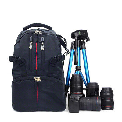New Waterproof Shockproof SLR DSLR Camera Backpack For Canon Sony Nikon AU Stock