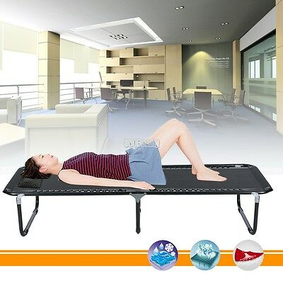Extra Long Heavy Duty Strong Simple Military Style Outside Folding Camping Bed