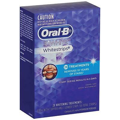 Oral B 3D White Strips Dental Stain Remover Oral Care X 28 Treatments