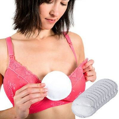 10PCS Reusable Nursing Breast Pads Washable Soft Absorbent Baby Breastfeeding