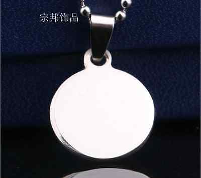 Hot Sale Stainless Steel Dog Cat Tag Pet ID Name Tag Round New