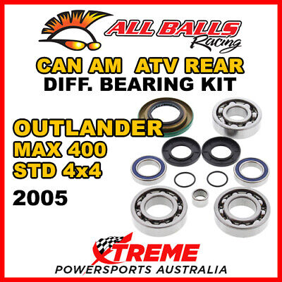25-2069 Can Am Outlander MAX 400 STD 4x4 2005 ATV Rear Differential Bearing Kit