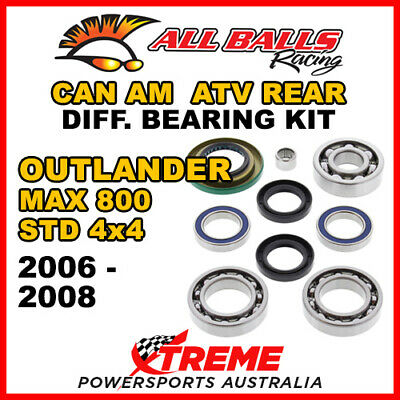 25-2068 Can Am Outlander MAX 800 STD 4x4 06-08 ATV Rear Differential Bearing Kit