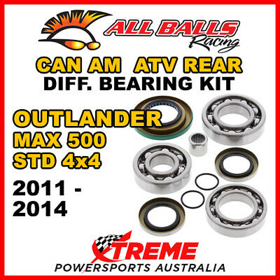 25-2086 Can Am Outlander MAX 500 STD 4x4 11-14 ATV Rear Differential Bearing Kit