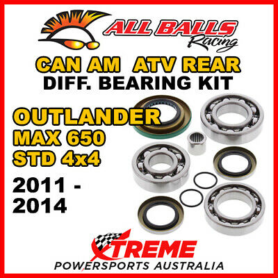 25-2086 Can Am Outlander MAX 650 STD 4x4 11-14 ATV Rear Differential Bearing Kit