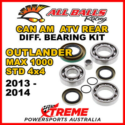 25-2086 CanAm Outlander MAX 1000 STD 4x4 13-14 ATV Rear Differential Bearing Kit