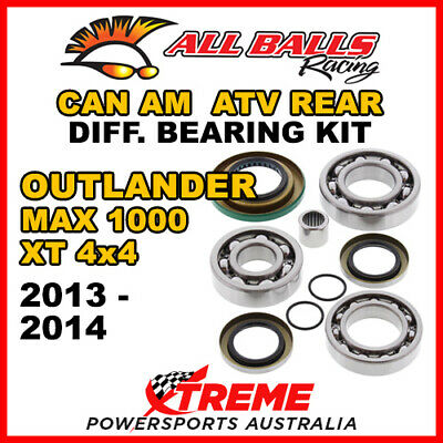 25-2086 Can Am Outlander MAX 1000 XT 4x4 13-14 ATV Rear Differential Bearing Kit