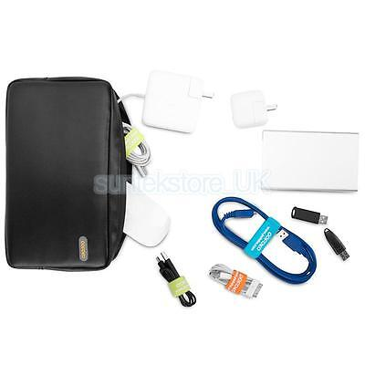 Black Carry Case Pouch Bag for External Hard Disk Drive Laptop Power Supply