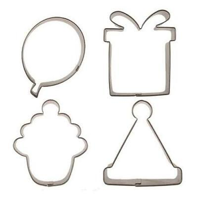 NEW Birthday Themed Set of 4 Cookie Cutters